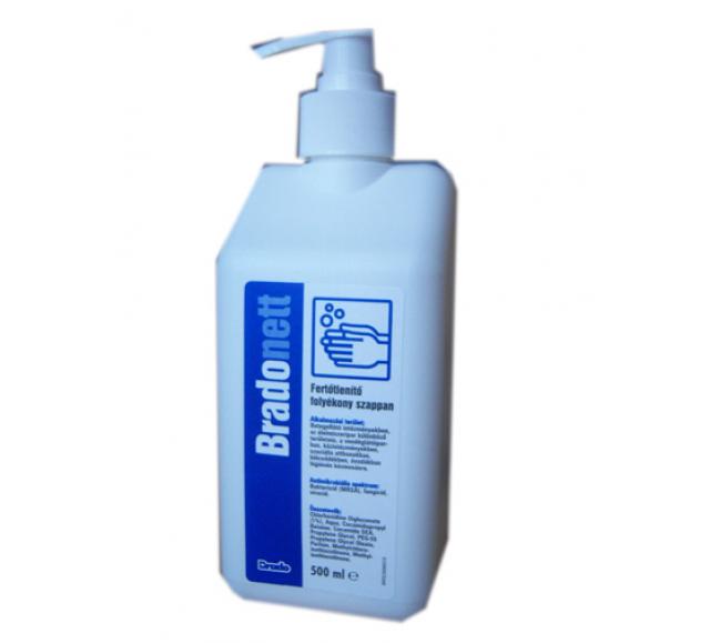 BRADONETT kézfertőtlenítő szappan (baktericid, fungicid, virucid) 500 ml pumpás