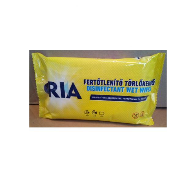 Ria Fertőtlenítő törlőkendő 40 db-os