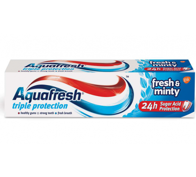 Aquafresh fogkrém 100ml fresh&minty