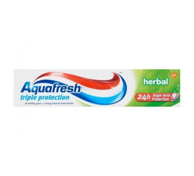 Aquafresh fogkrém 100ml Herbál