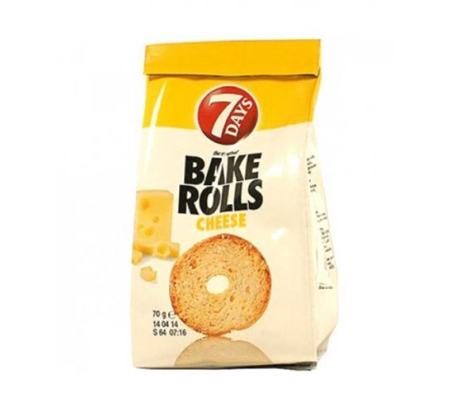 7 D Bake Rollskenyércsipsz 80 g. sajtos