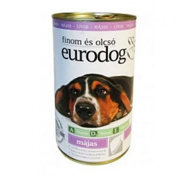 Euro Dogkutyaeledel 1240 g konzerv májas