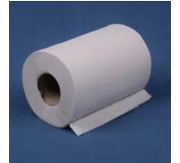 Tekercses papírtörlő 14 cm 2 rét. Fehér,ragasztott