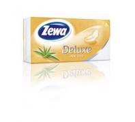 Zewa Deluxe 3 rétegű papír zsebkendő 90db aloe vera