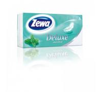 Zewa Deluxe 3 rétegű papír zsebkendő 90db menthol