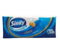 Sindy papirzsebkendő 10x10 es  3 rtg Classic