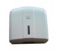 C / V / Z hajtogatott kéztörlőpapír adagoló, műanyag, fehér, zárható, töltöttség