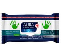 AURA 72db-os antibakteriális törlőkendő