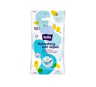 Bella antibakteriális nedves frissítő kendő 10 db