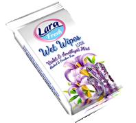 Lara Nedves törlőkendő 15 db 5 féle