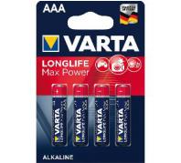 Varta Longlife Max Power Alkáli Micro Elem AAA (1,5V) B4