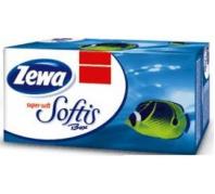 Zewa Softis  4 rétegű dobozos papír zsebkendő 80 db