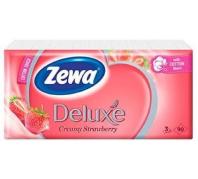 Zewa Deluxe 3 rétegű papír zsebkendő 90db  Strawberry