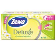 Zewa Deluxe 3 rétegű papír zsebkendő 90db Camomile