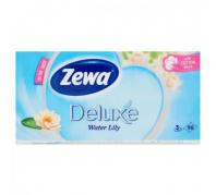 Zewa Deluxe 3 rétegű papír zsebkendő 90db  Water Lily