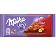 Milkatejcsoki 93 g collage málna-mogyoró